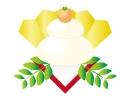 シンプルな鏡餅の年賀状イラスト
