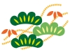 シンプルな松の年賀状イラスト