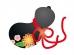 黒いひょうたんの年賀状イラスト