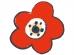 梅と花の年賀状イラスト