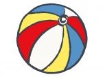 赤・黄・青色の毬の年賀状イラスト