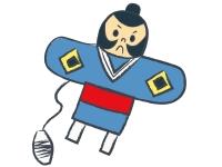 お正月の定番やっこ凧の年賀状イラスト02