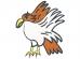 縁起物の鷹・お正月の年賀状イラスト