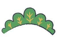 シンプルな松の年賀状イラスト02