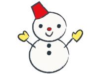 雪だるまのお正月・年賀状イラスト