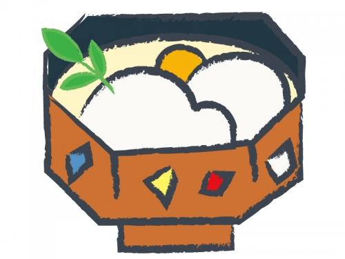 お雑煮のお正月・年賀状イラスト