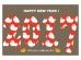 ニワトリ柄の「2017」の年賀状はがきテンプレート