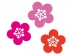 三色の梅の花の年賀状・お正月イラスト