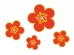 金色の淵の梅の花の年賀状・お正月イラスト