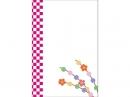 紅白の市松模様と餅花の年賀状はがきテンプレート