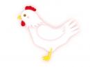 パステル調のかわいいニワトリの年賀状イラスト