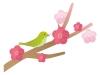 梅の花と鶯の年賀状イラスト
