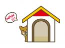 犬小屋と犬の年賀状イラスト02