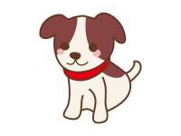 干支の戌(子犬)の年賀状イラスト