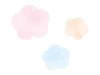 パステル画の梅の花の年賀状・お正月イラスト