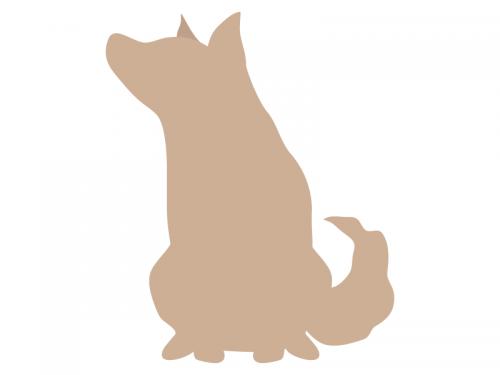 犬のシルエットの年賀状イラスト