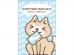 お年玉袋をくわえた犬の2018年・年賀状はがきテンプレート02