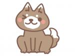 かわいい犬の年賀状イラスト