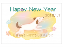メルヘンな犬の2018年・HappyNewYear年賀状はがきテンプレート